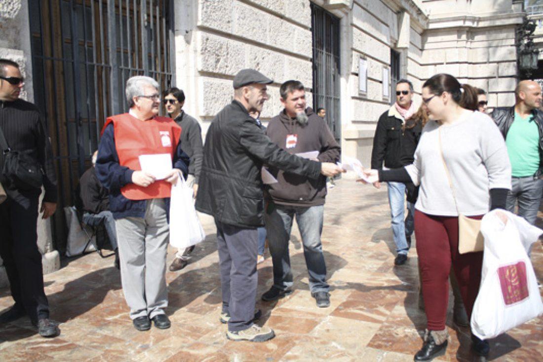 CGT denunciará en las calles de Gandía, Alicante y Valencia las condiciones laborales de vendedores de la ONCE