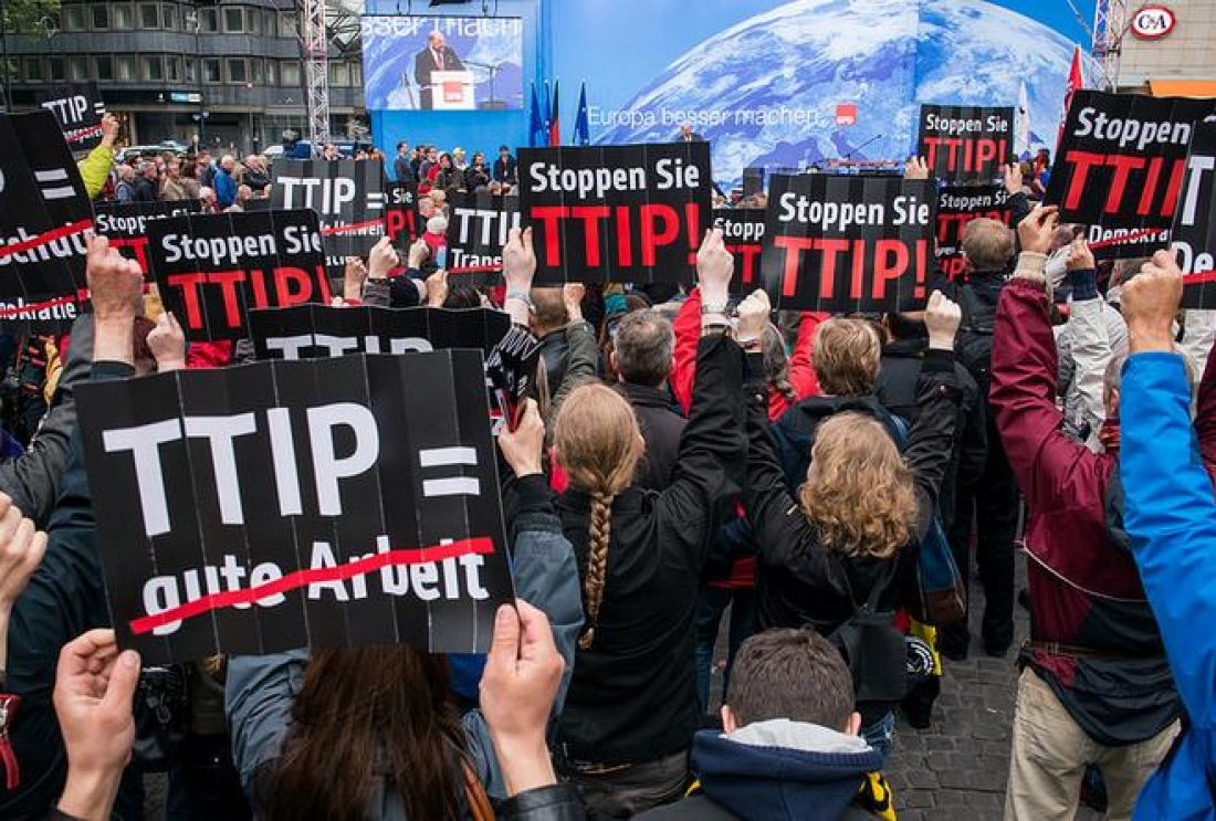 Una coalición paneuropea rechaza el tratado comercial UE y EEUU