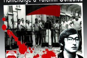 Actos programados por la CGT en Valencia para el XXXV Aniversario del asesinato de Valentín González