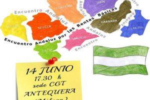 14 Junio, sede CGT Antequera, encuentro andaluz por la renta básica