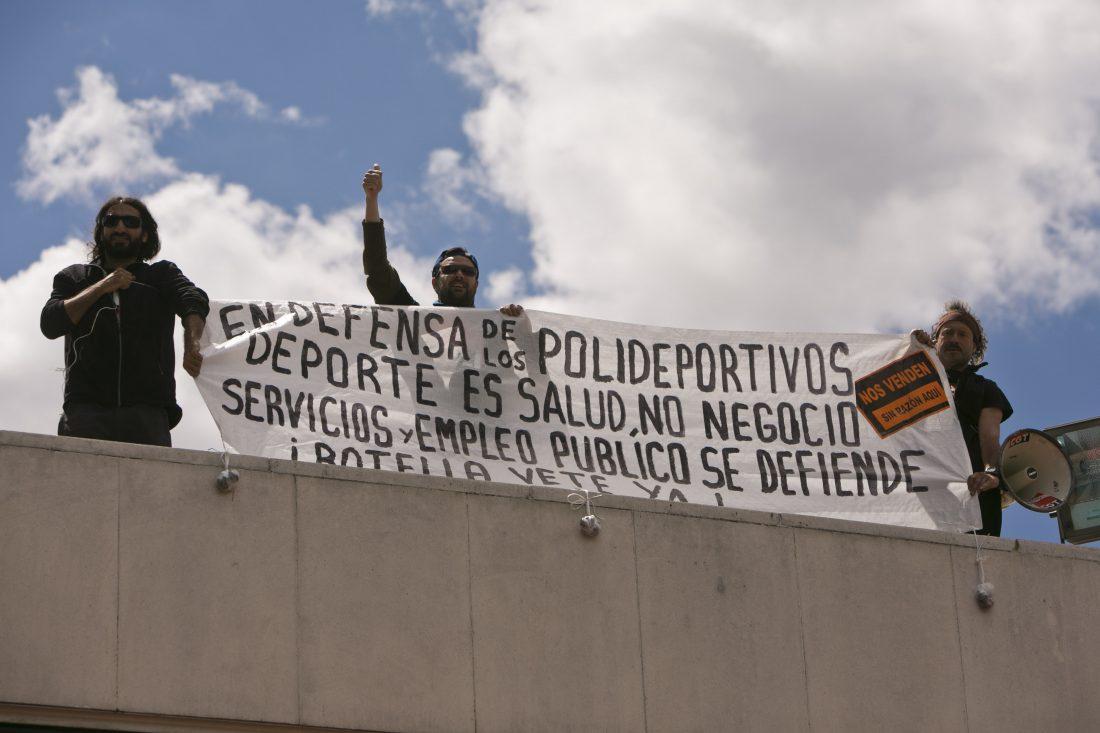 La Sección Sindical de la CGT en el Ayuntamiento de Madrid llevó a cabo dos acciones entre la noche del 30 de mayo y la mañana del 31