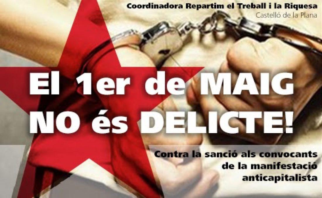 Manifiesto ante la sanción por la manifestación del 1 de mayo