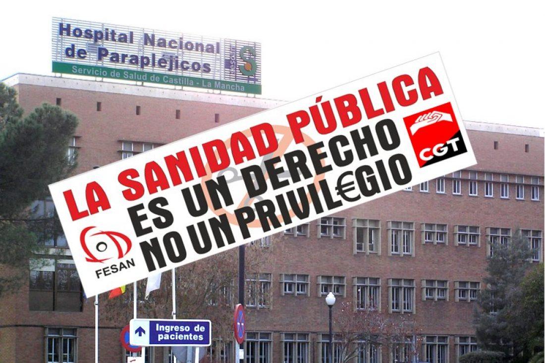 CGT Toledo en contra de la privatización en la sanidad pública