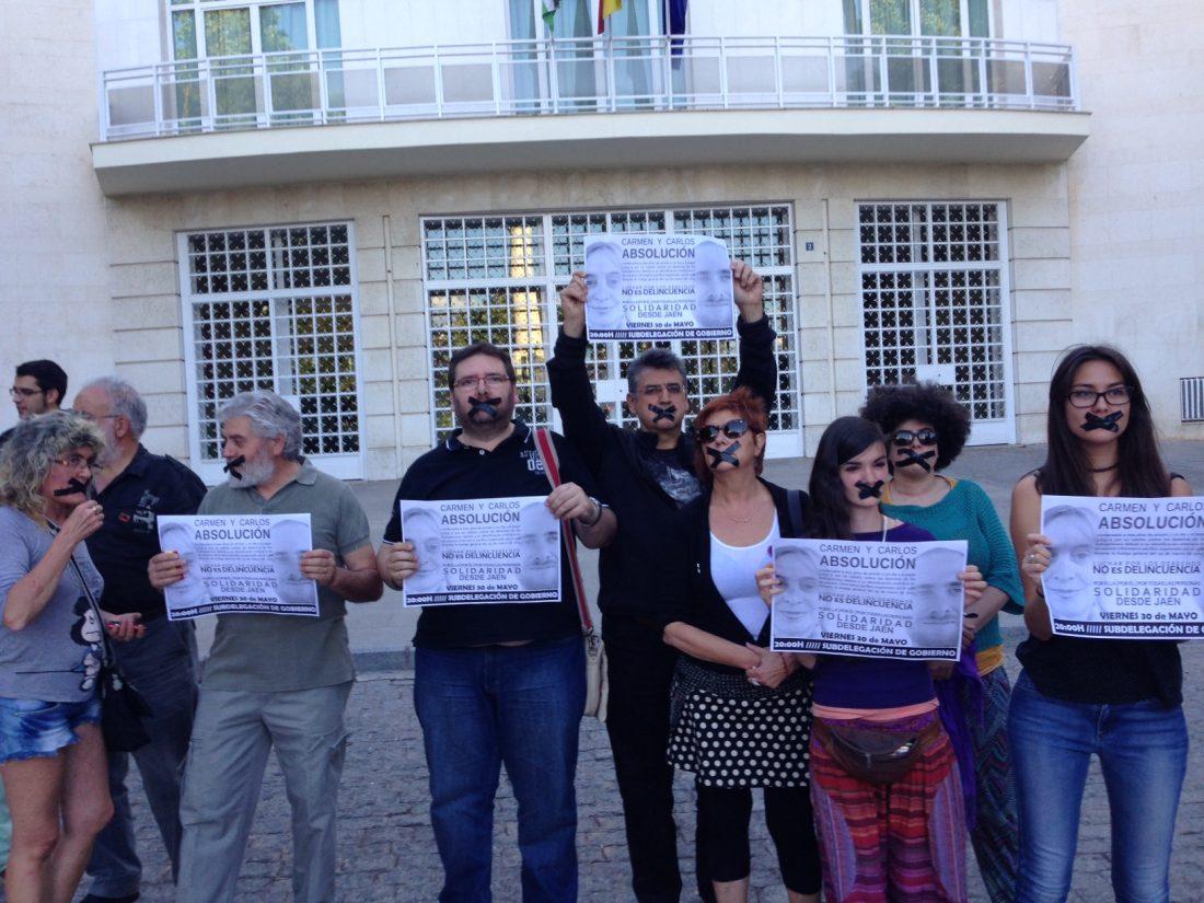 Concentración en Jaen: Carlos y Carmen absolución