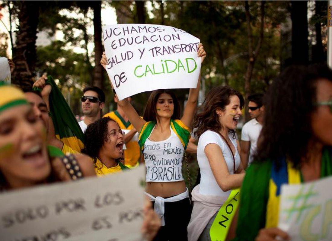 Ni en Brasil ni en ninguna parte deben desaparecer las luchas o las libertades debido al Mundial de futbol
