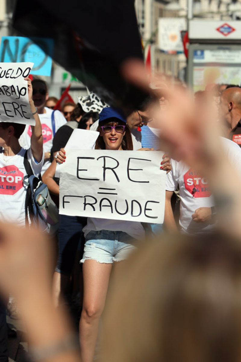 [Fotos]: Concentración en Madrid contra el ERE de Atento - Imagen-2