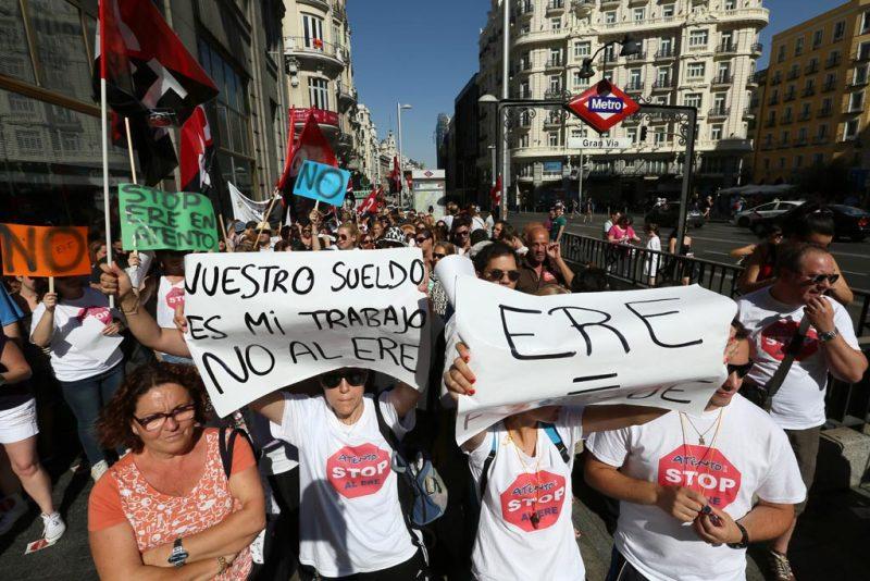 [Fotos]: Concentración en Madrid contra el ERE de Atento - Imagen-4
