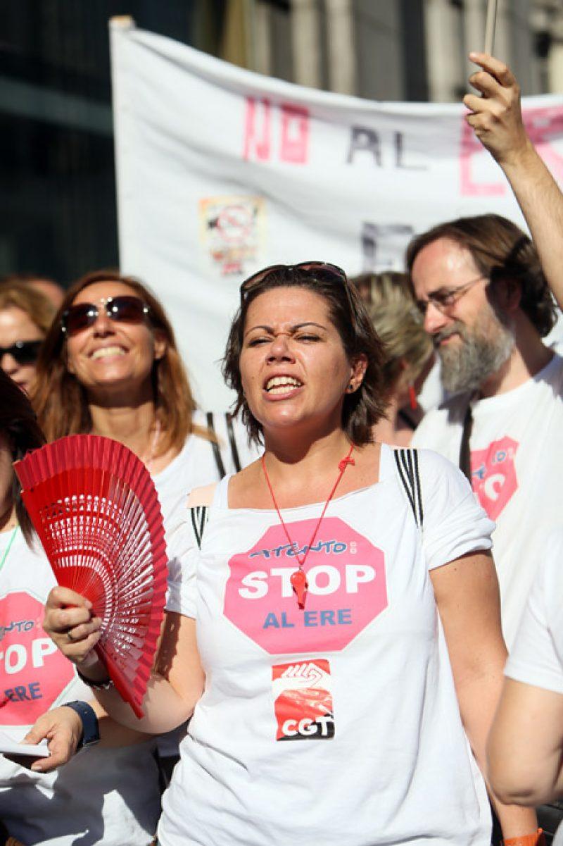 [Fotos]: Concentración en Madrid contra el ERE de Atento - Imagen-10