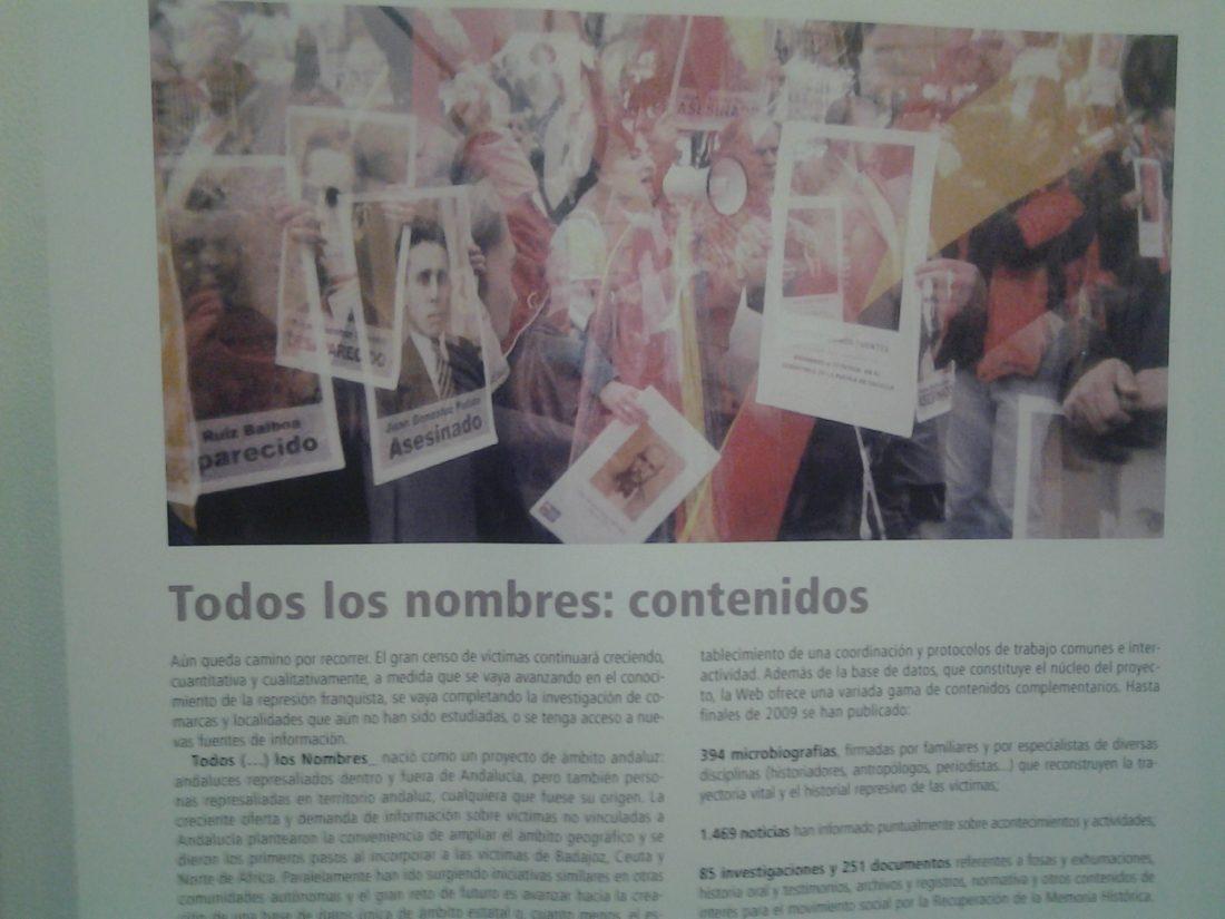 La Exposición 'Todos (…) Los Nombres', en CGT Sevilla todo el mes de julio.