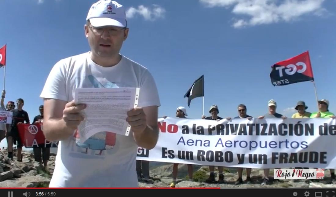 Vídeo: CGT grita a los 4 vientos: No a la Privatización de Aena, esto es un robo y un fraude