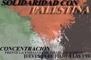 Concentraciones en apoyo al pueblo palestino