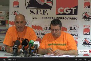 Vídeo: Rueda Prensa CGT Huelga Sector Ferroviario JL – A 2014