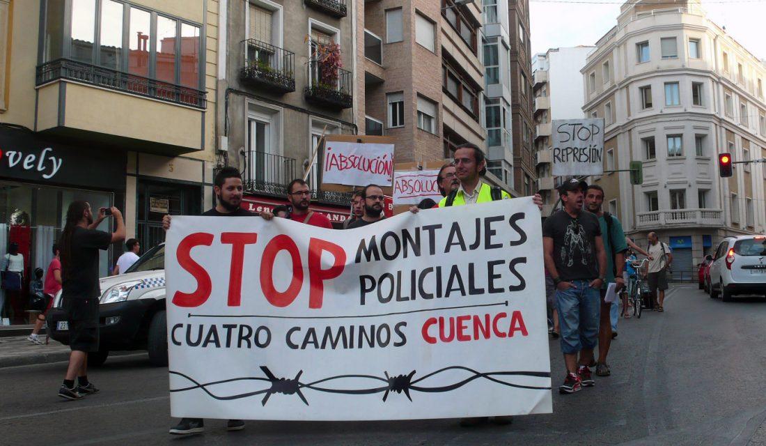 STOP montajes policiales Cuatro Caminos Cuenca