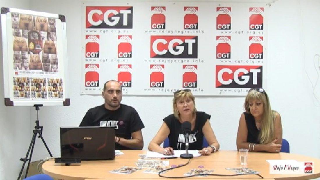 Vídeo: Rueda de Prensa Campaña Aborto CGT completa