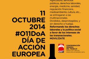 11 de octubre del 2014: Día de acción europea contra el TTIP