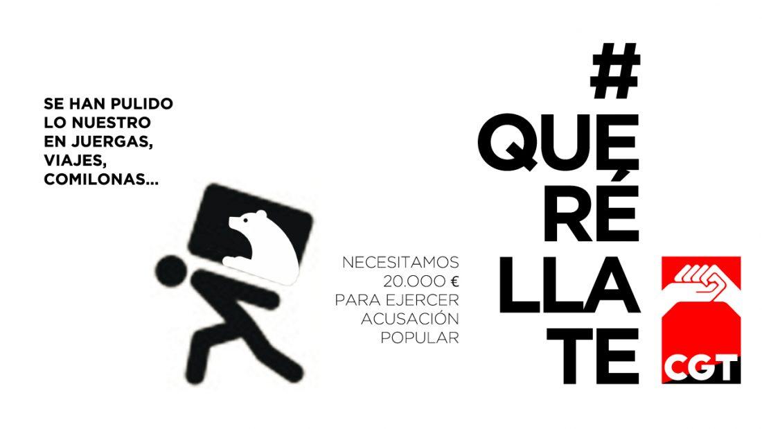 CGT inicia una campaña de contribución popular para personarse en el caso Bankia