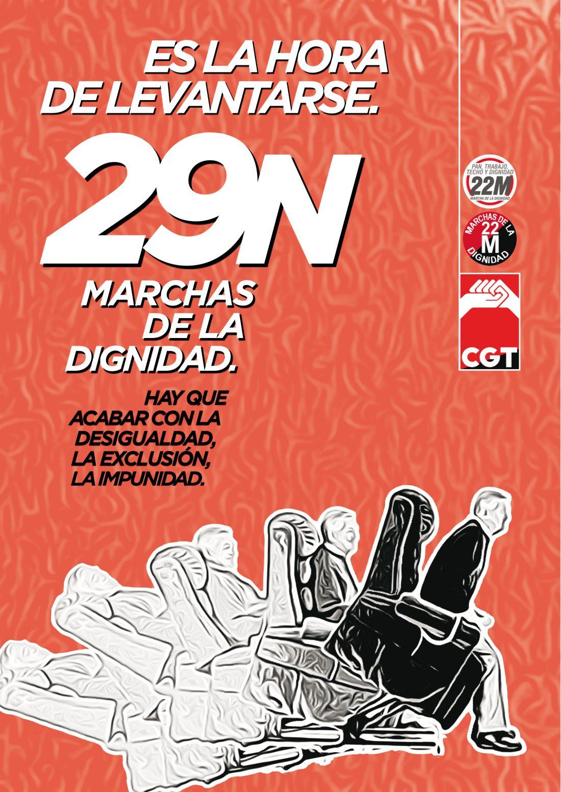 CGT llama a movilizarse junto a las Marchas de la Dignidad