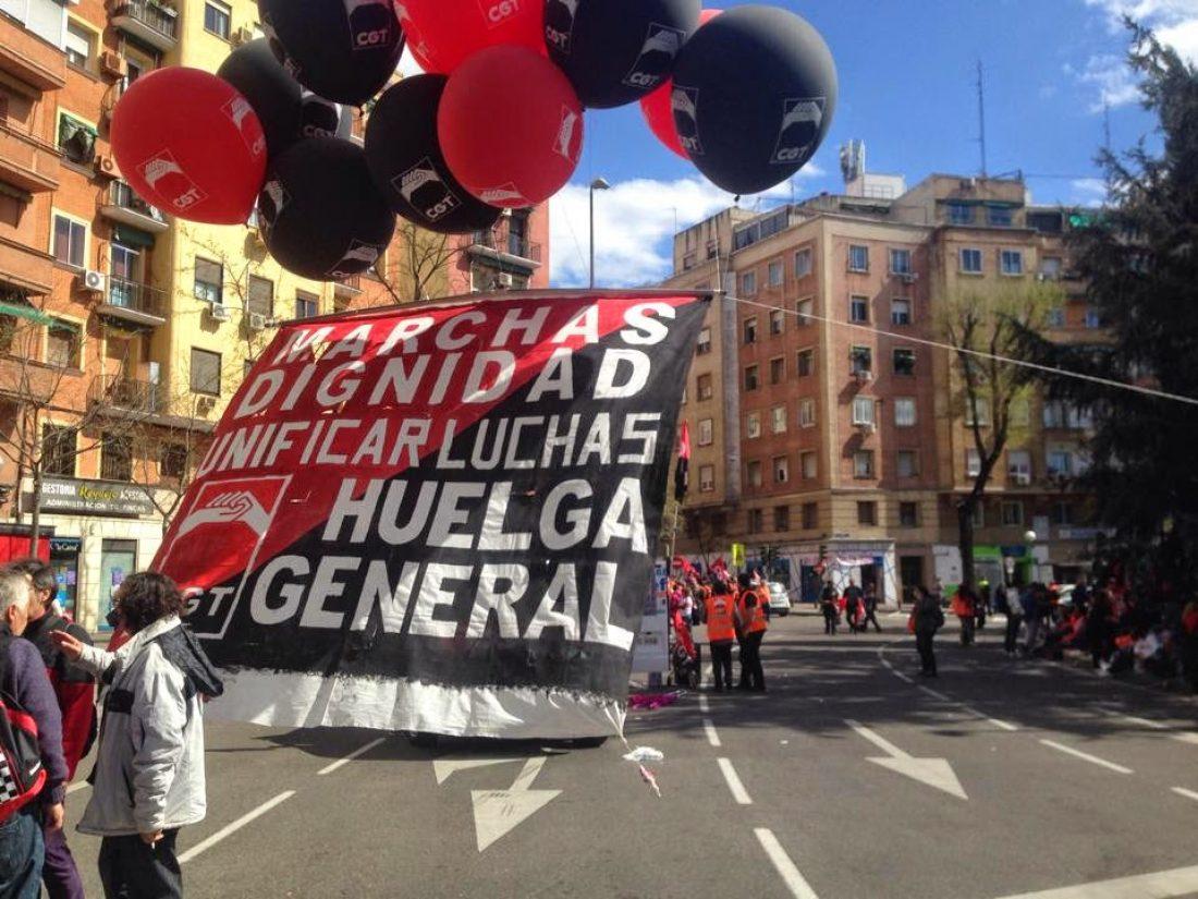 Manifiesto de CGT para la Movilización del 29N