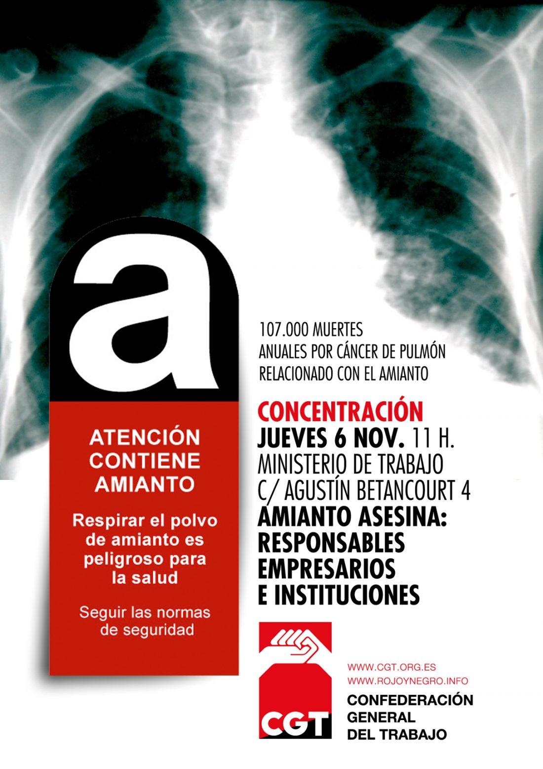 Concentración 6 de noviembre: El Amianto Asesina