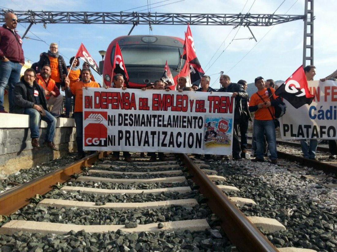 L@s ferroviari@s siguen movilizándose con CGT