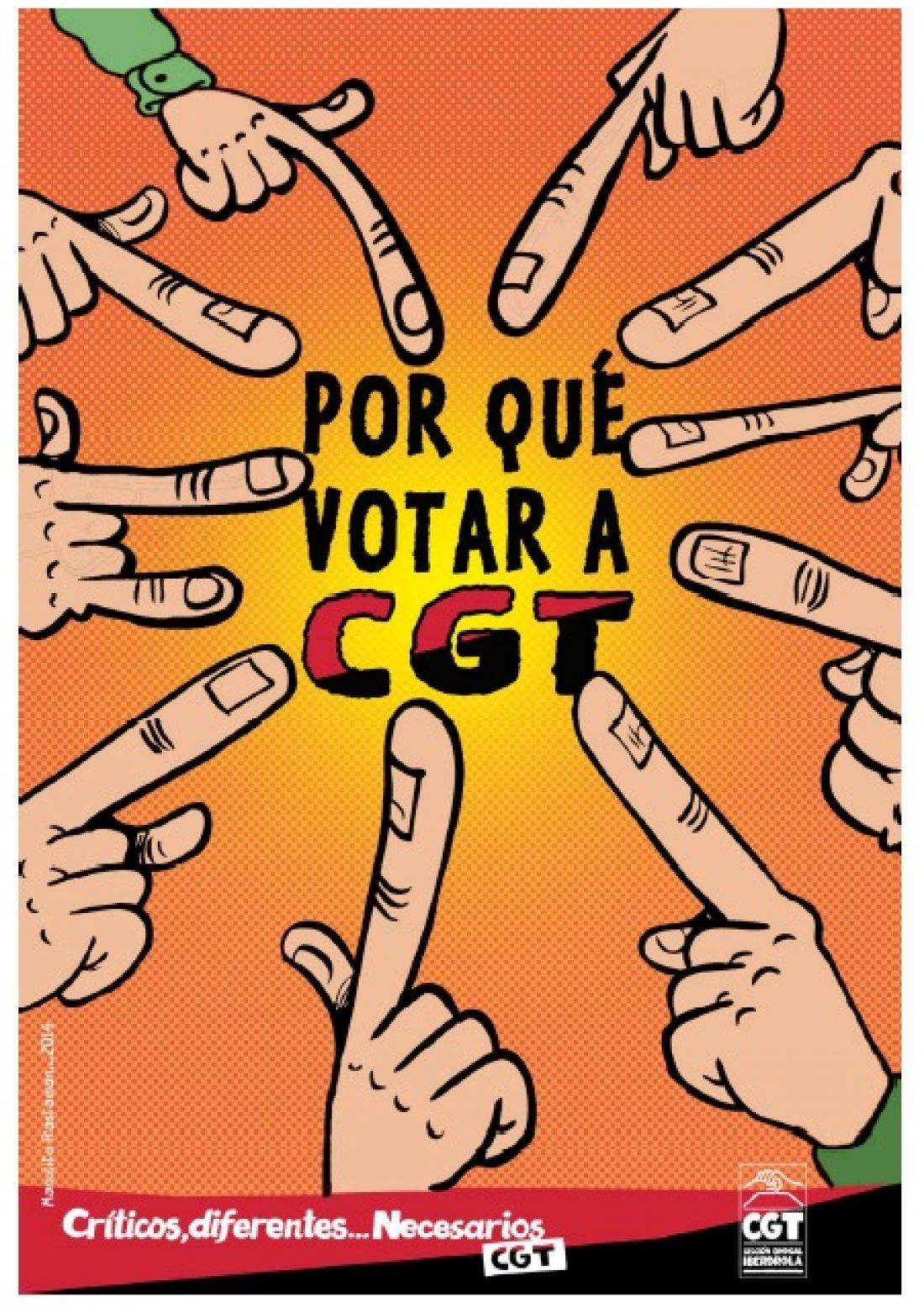 Cómic: Vota CGT (Iberdrola)