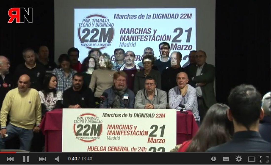 Vídeos: Rueda de prensa Marchas de la Dignidad