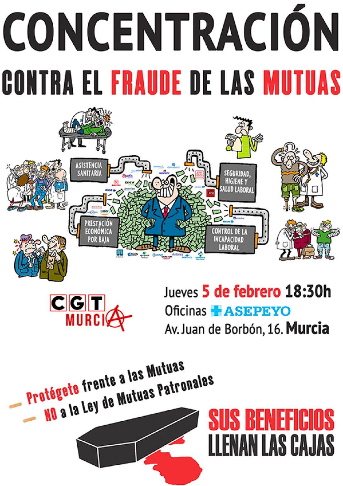 La CGT de Murcia gana un juicio a la Mutua Asepeyo.