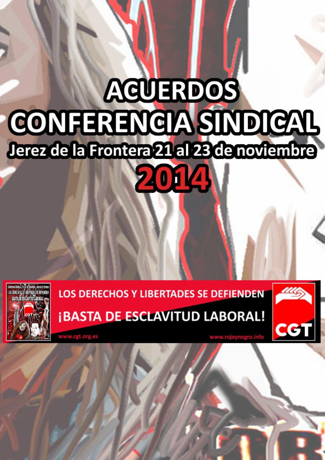 VIII Conferencia Sindical de CGT. Jerez de la Frontera 2014