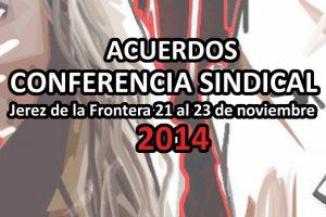 VIII Conferencia Sindical Jerez de la Frontera 2014