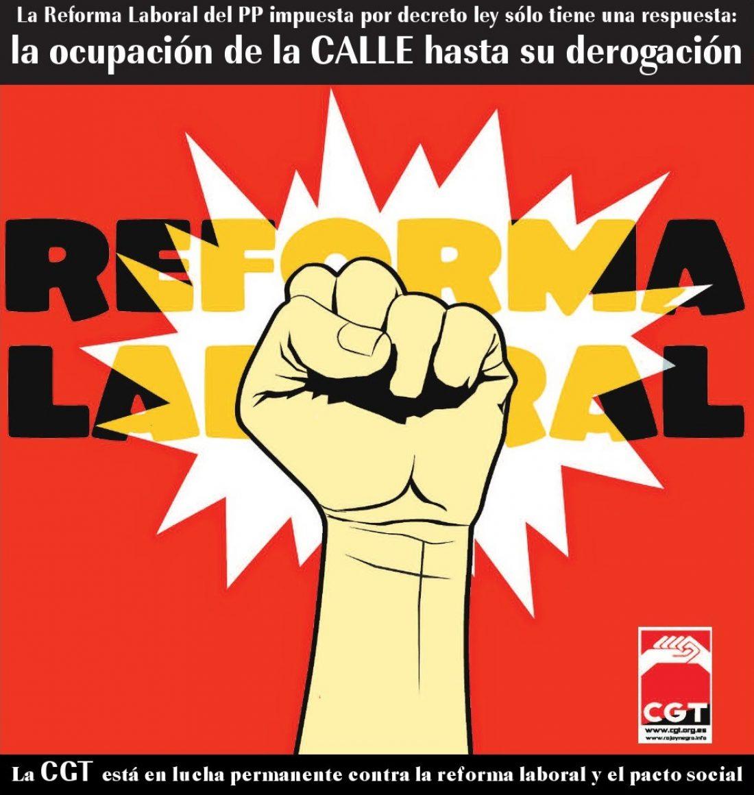 Manifestación 10 de febrero contra la Reforma Laboral