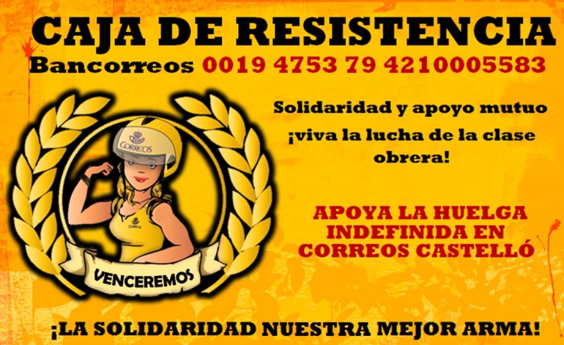 Caja de Resistencia por la Huelga Indefinida de Correos Castelló