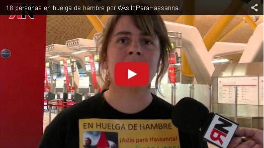 Vídeo:  18 personas en huelga de hambre por #AsiloParaHassanna