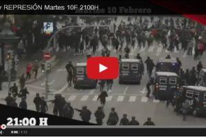 El próximo martes 10 de febrero, vuelve rojoynegroTV, en esta cita hablamos de represión