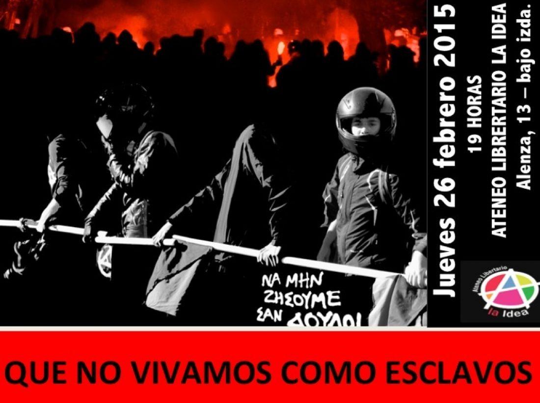Ateneo La Idea jueves 26 de marzo proyección de la película «No vivamos más como esclavos»