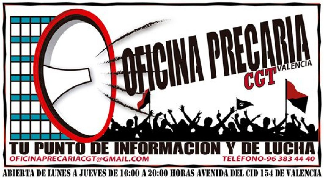 La Asamblea de Paradas de CGT Valencia pone en marcha la Oficina Precaria