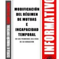 Boletín 148: Modificación del Régimen de Mutuas e incapacidad temporal en los primeros 365 días de su duración