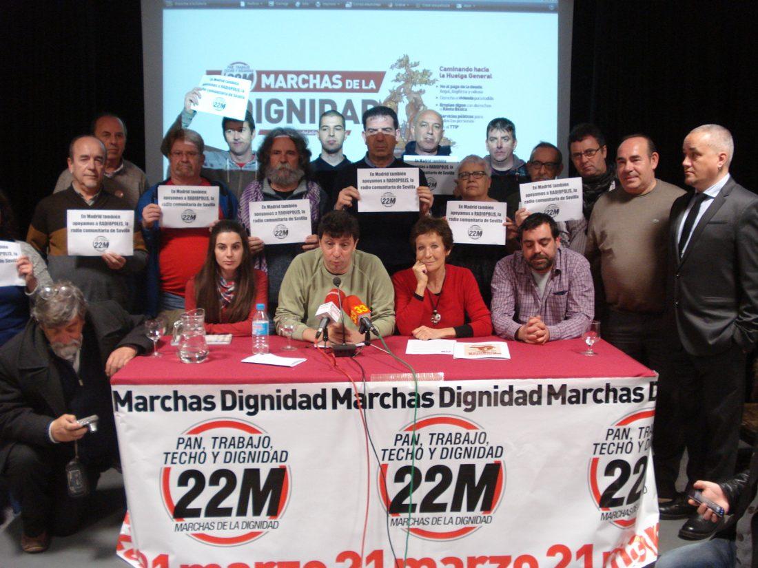 """Rueda de prensa: Las Marchas de la Dignidad vuelven el 21 de marzo a Madrid para exigir """"Pan, Trabajo, Techo y Dignidad"""""""
