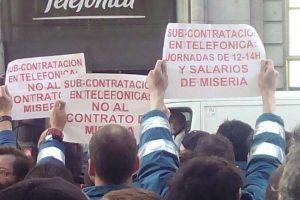 Huelga indefinida a nivel estatal de las subcontratas de Telefonía