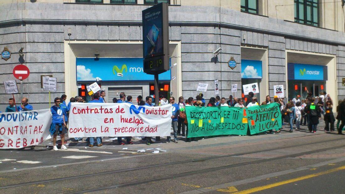 Mañana, jueves 23 de abril de 2015, habrá en Madrid una Manifestación Estatal de Contratas, Subcontratas y Autónomos que trabajan para Telefónica MoviStar en todo el estado