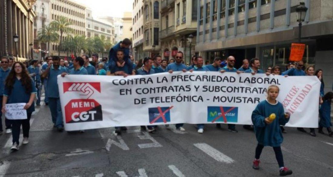 La CGT sigue respaldando la lucha de los trabajadores y trabajadoras de Movistar