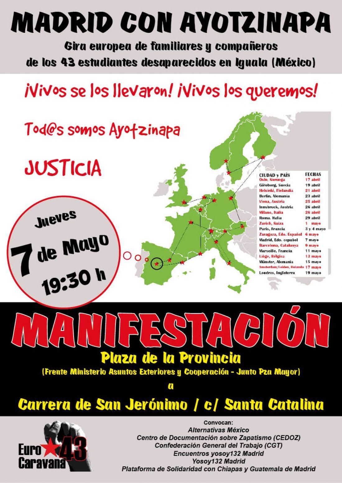 Manifestación 7 mayo con familiares de desaparecidos de México