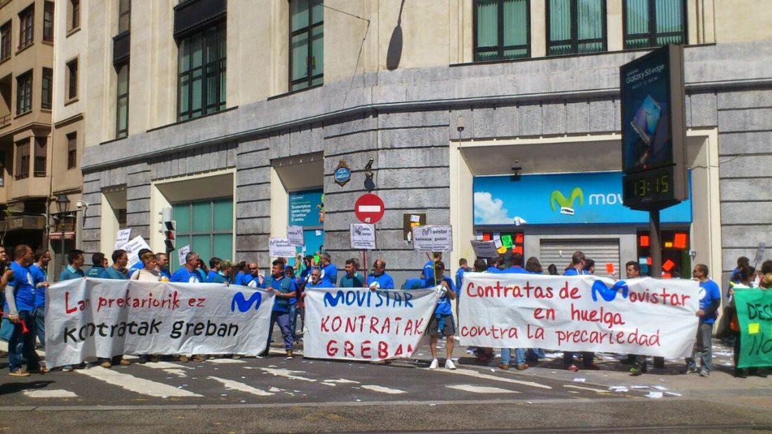La huelga indefinida de las contratas de Movistar continúa, a pesar de los intentos de UGT, CCOO y patronal por romperla