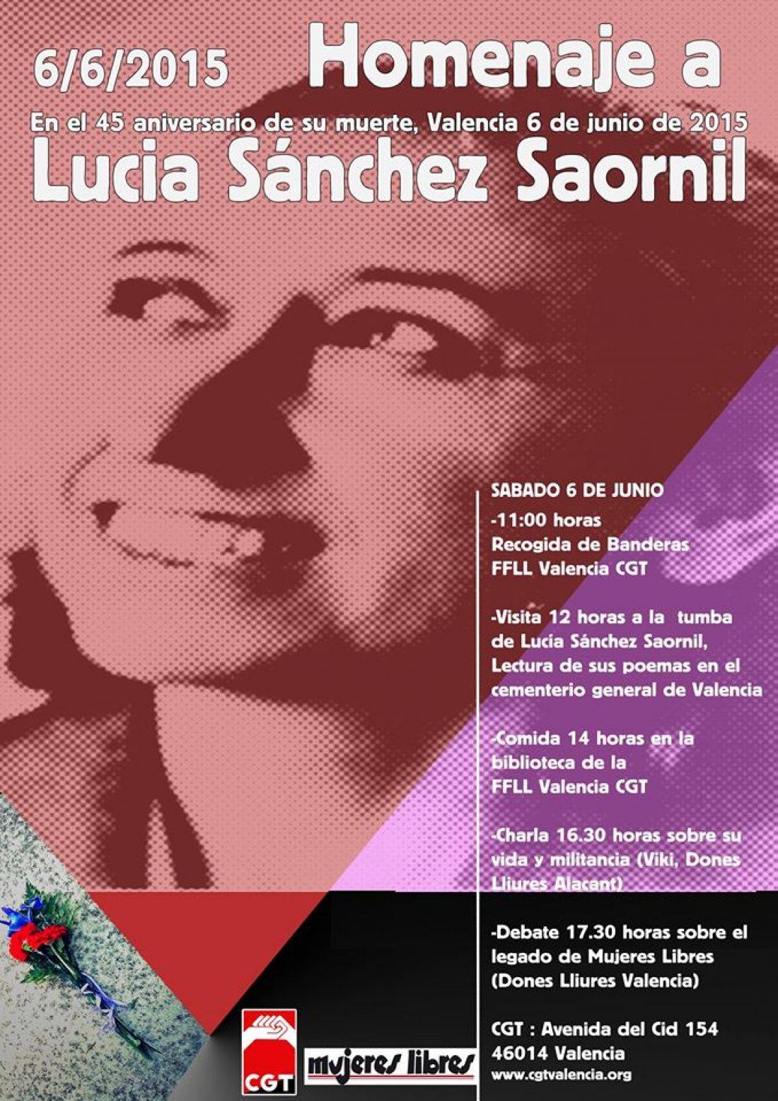 Homenatge a Lucía Sánchez Saornil