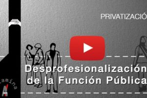Vídeo: La desprofesionalización de la Función Pública en la Región de Murcia