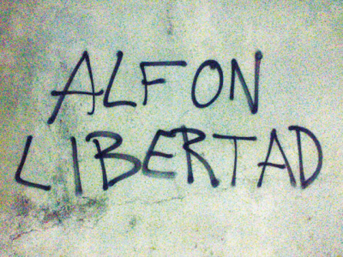 CGT exige la puesta en libertad de Alfon