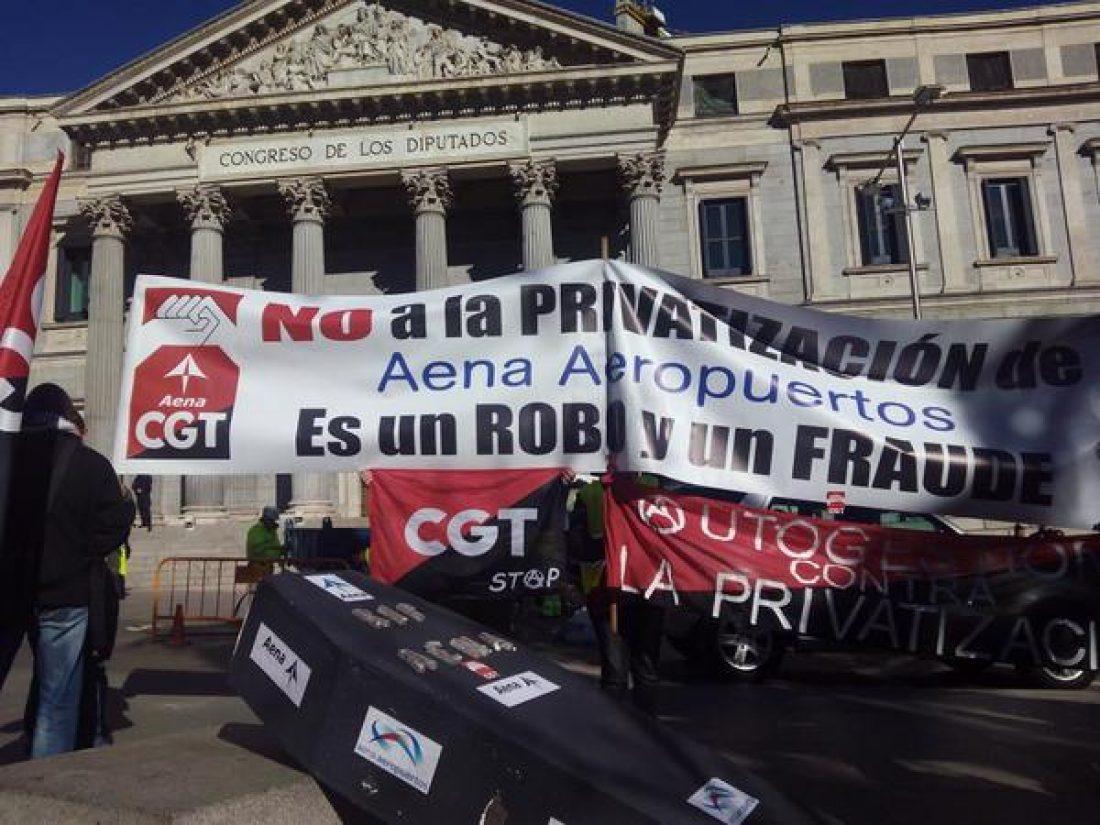 El gobierno desautoriza una concentración en protesta contra el expolio que ha supuesto la privatización de Aena