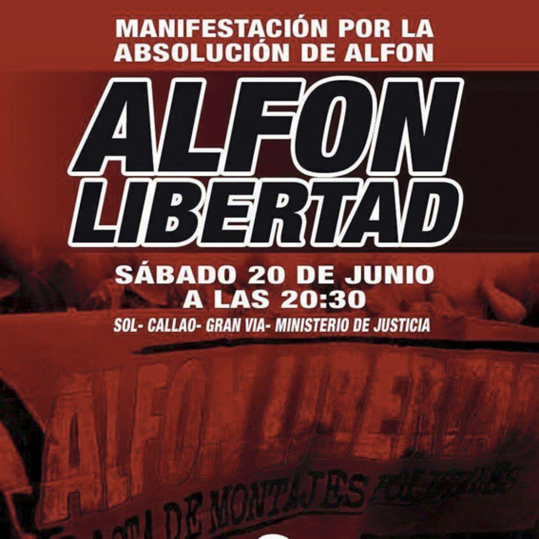 20-J: Manifestación por la absolución de Alfon