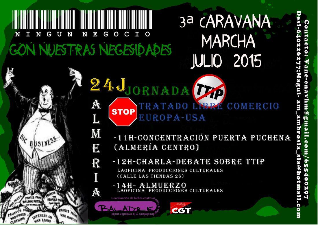 Almeria – Caravana-Marcha «Ningún negocio con nuestras necesidades»