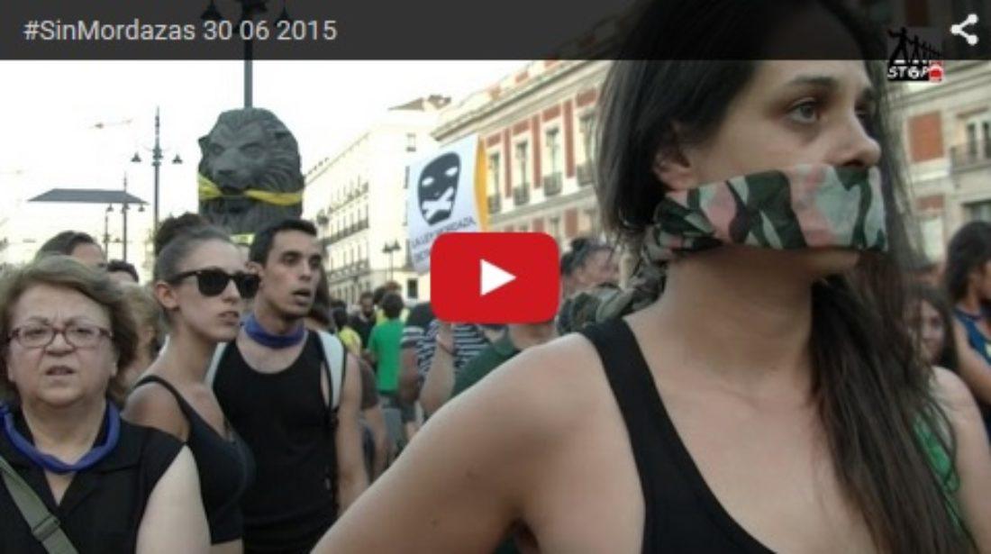Vídeo: 30 de junio #LeyMordaza Madrid