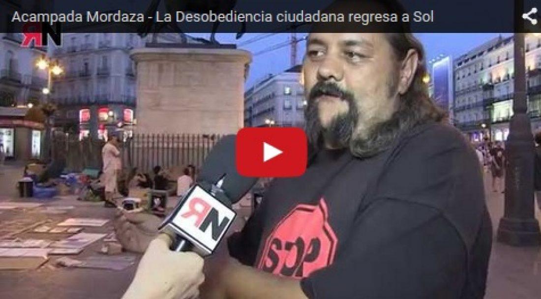 Vídeo: La Desobediencia ciudadana regresa a Sol
